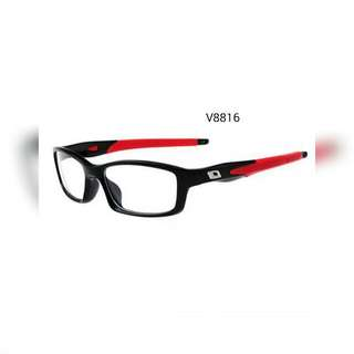 Sports Eyewear Silicone Frame Yellow/Red/Grey