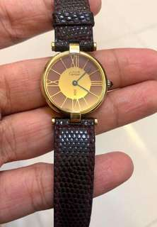 Cartier Authentic Ladies Leather Watch