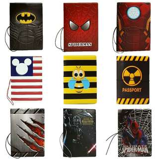 Star wars superman Spiderman ironman Mickey superman batman passport holder