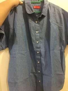 Kemeja biru (brand PADINI Malaysia)