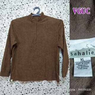 Brown pullover jacket