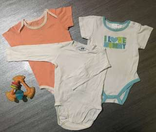 Combo baby rompers 9-12m