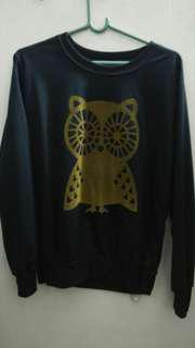 Owl Sweatshirt -dark blue