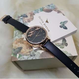 Olivia Burton busy bees leather black