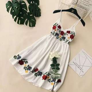 Embroidery Long Dress