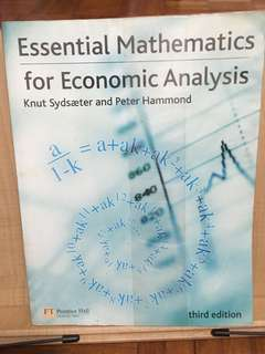Essential mathematics for economic analysis (third edition)