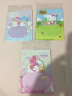 Sanrio post it note (Hello Kitty/My Melody/Little Twin Stars)