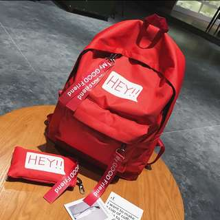!!!Buy 1 free 1!!!Korean High student Casual Backpack Street style