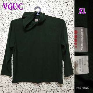 Dark green pullover jacket