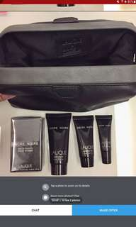 Singapore Airlines first class amenity kit Lalique male with perfume