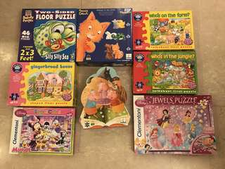 Puzzles (each at $10) but a set of 8 puzzles selling at $60