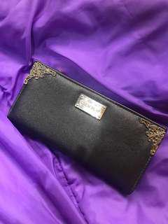 Ever New Long Wallet with Gold Details