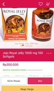 Royal jelly made in australia JOJO