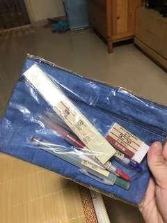 MUJI 文具袋  6 件