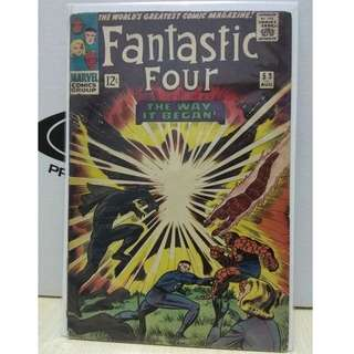 🚚 Fantastic Four #53 - The Origin of the Black Panther and 1st appearance of Ulysses Klaw