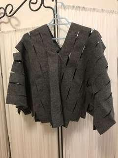 Junya watanabe wool cut out top