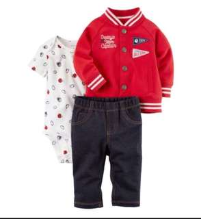 🚚 *24M* BN Carter's 3-Piece Little Jacket Set For Baby Boy