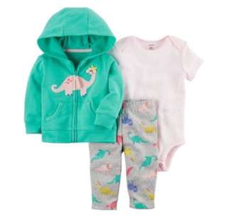 🚚 *24M* Brand New Carter's 3-Piece Little Jacket Set For Baby Girl