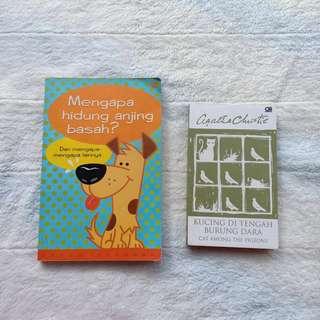 Buku Pengetahuan Mengapa Hidung Anjing Basah? / Novel Agatha Christie Kucing di Tengah Burung Dara (cat among the pigeons)
