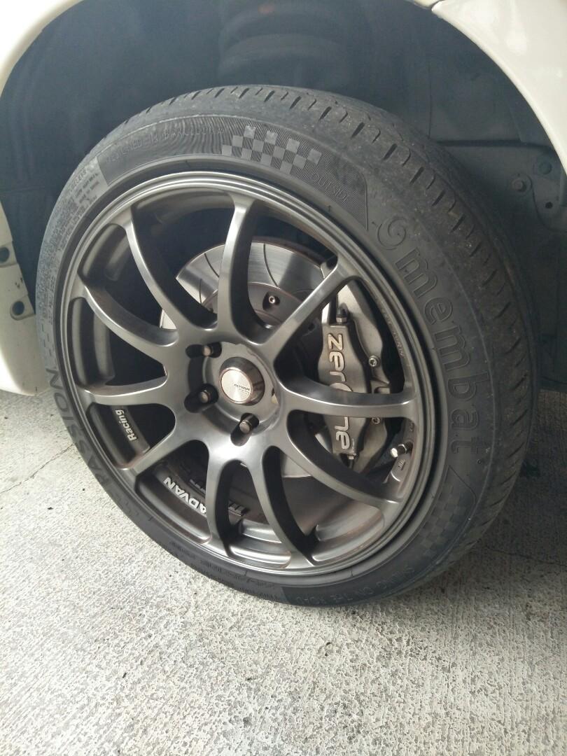 18 Inch Rims And Tires >> Advan Rz 18 Inch Rim Tires
