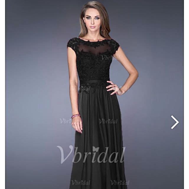 ded40fb1fb9f A-Line/Princess Scoop Neck Floor-Length Chiffon Tulle Evening Dress ...