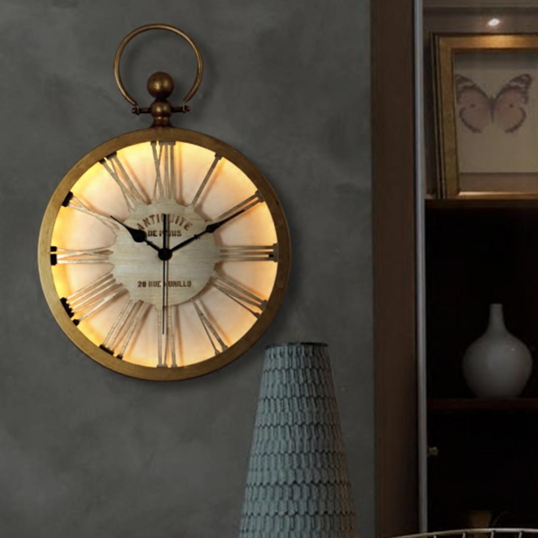 led lighted wall clocks