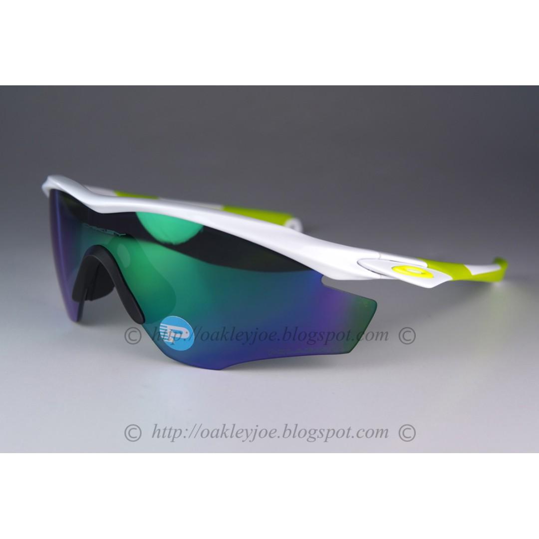 c9afe10f50 BNIB Oakley Custom M2 XL polished white + jade iridium polarized sunglass  shades