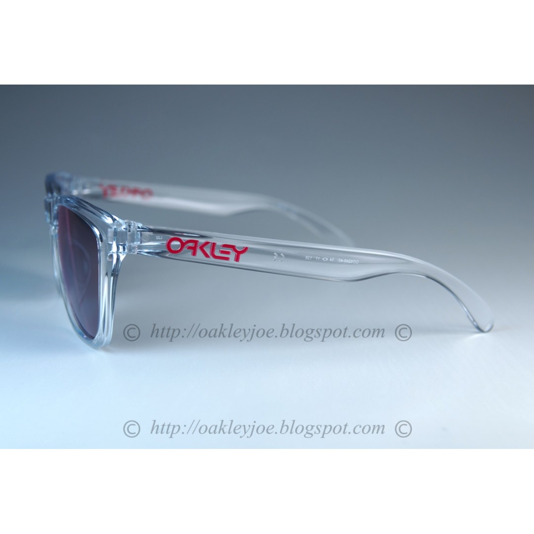 a0da72f5cf BNIB Oakley Frogskins Asian Fit Crystal Collection polished clear + torch  iridium OO9245-40 sunglass shades