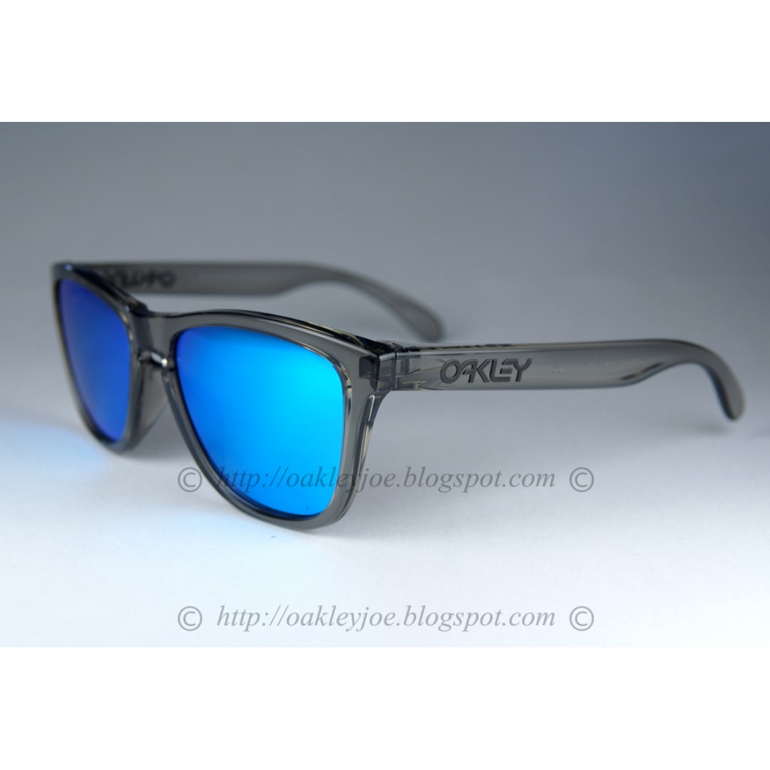 7529ad0fcd BNIB Oakley Frogskins Asian Fit grey ink + sapphire iridium oo9245-42  sunglass shades