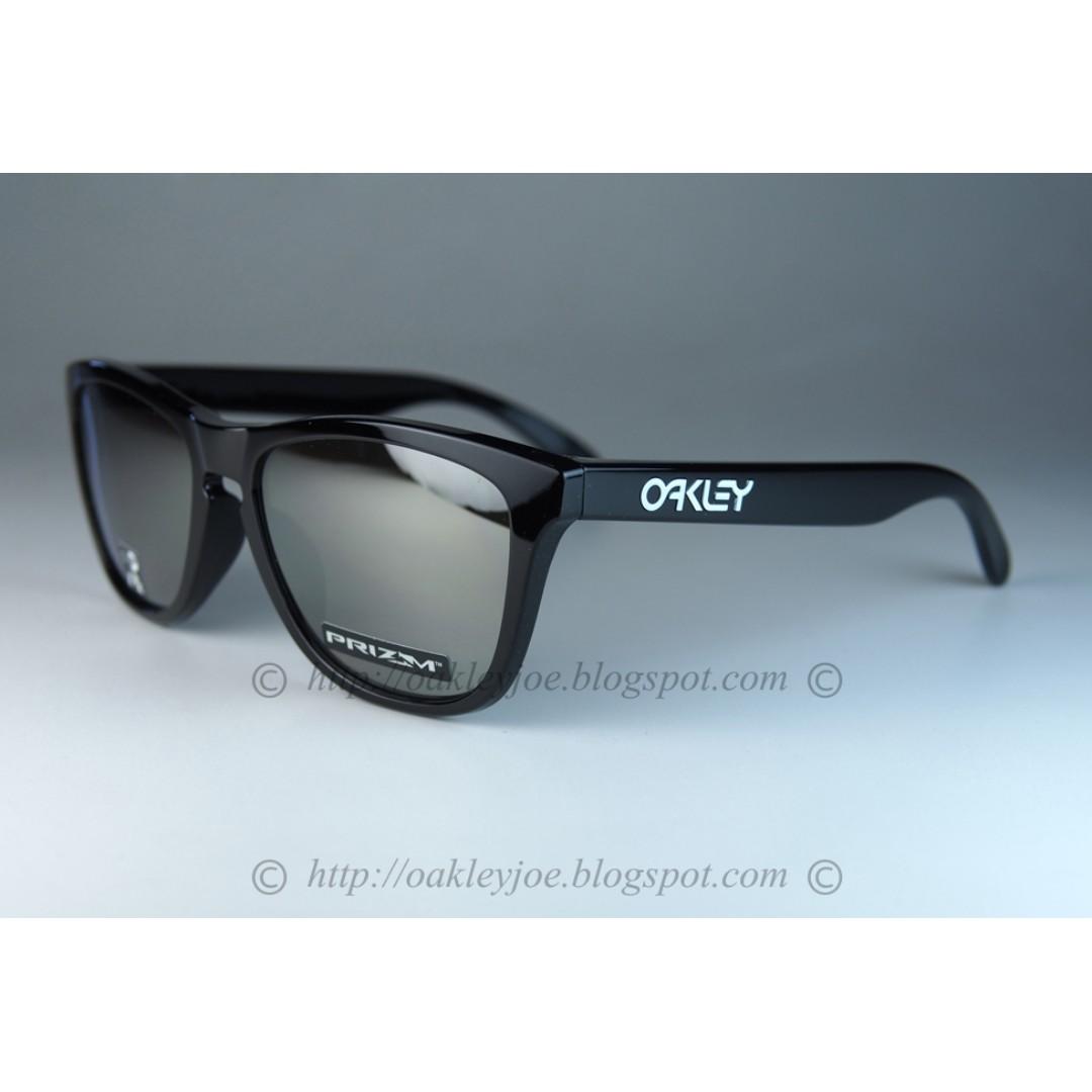 BNIB Oakley Frogskins polished black + prizm black iridium oo9245-6254  sunglass shades d1aafa9496f8