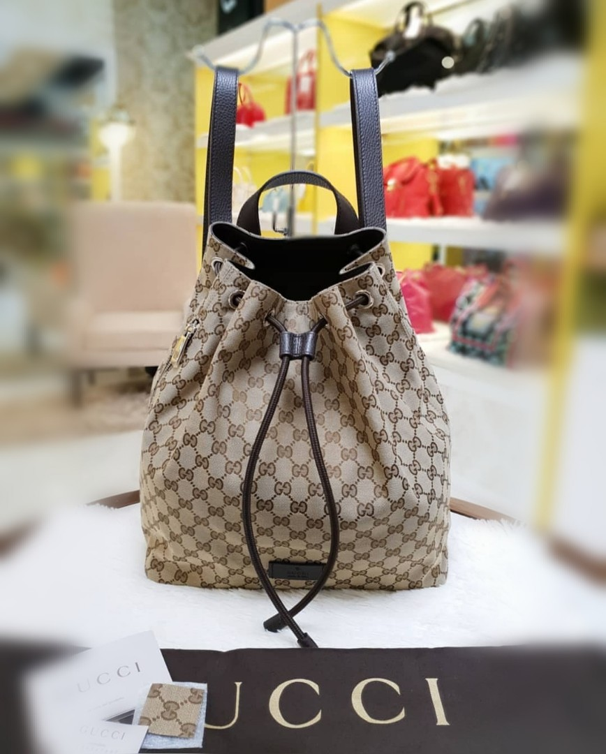 cc147bcbbb4 BRAND NEW GUCCI DRAWSTRING BACKPACK ❤️BIG SALE48K❤ With dustbag ...