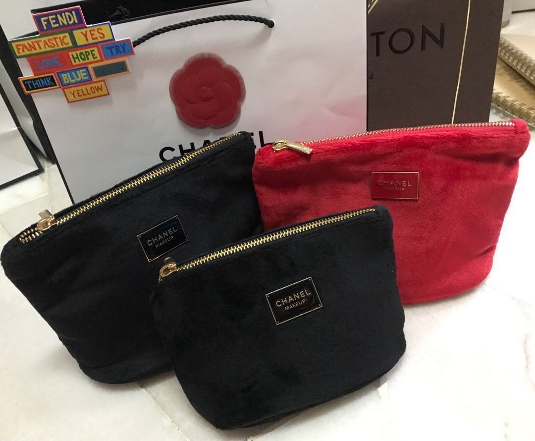 857c0628f4b1 Chanel make up complimentary pouch, Luxury, Bags & Wallets on Carousell