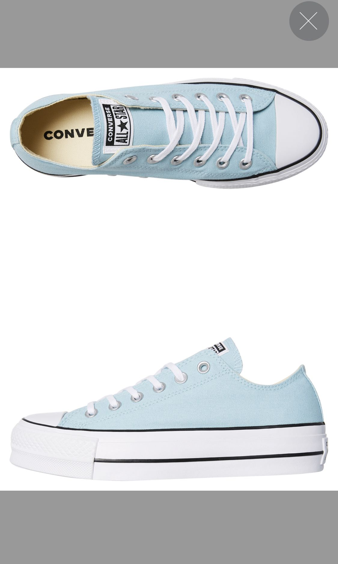 bc684497886b Converse Chuck Taylor Platform Baby Blue Women S Fashion Shoes. Converse  Allstar ...
