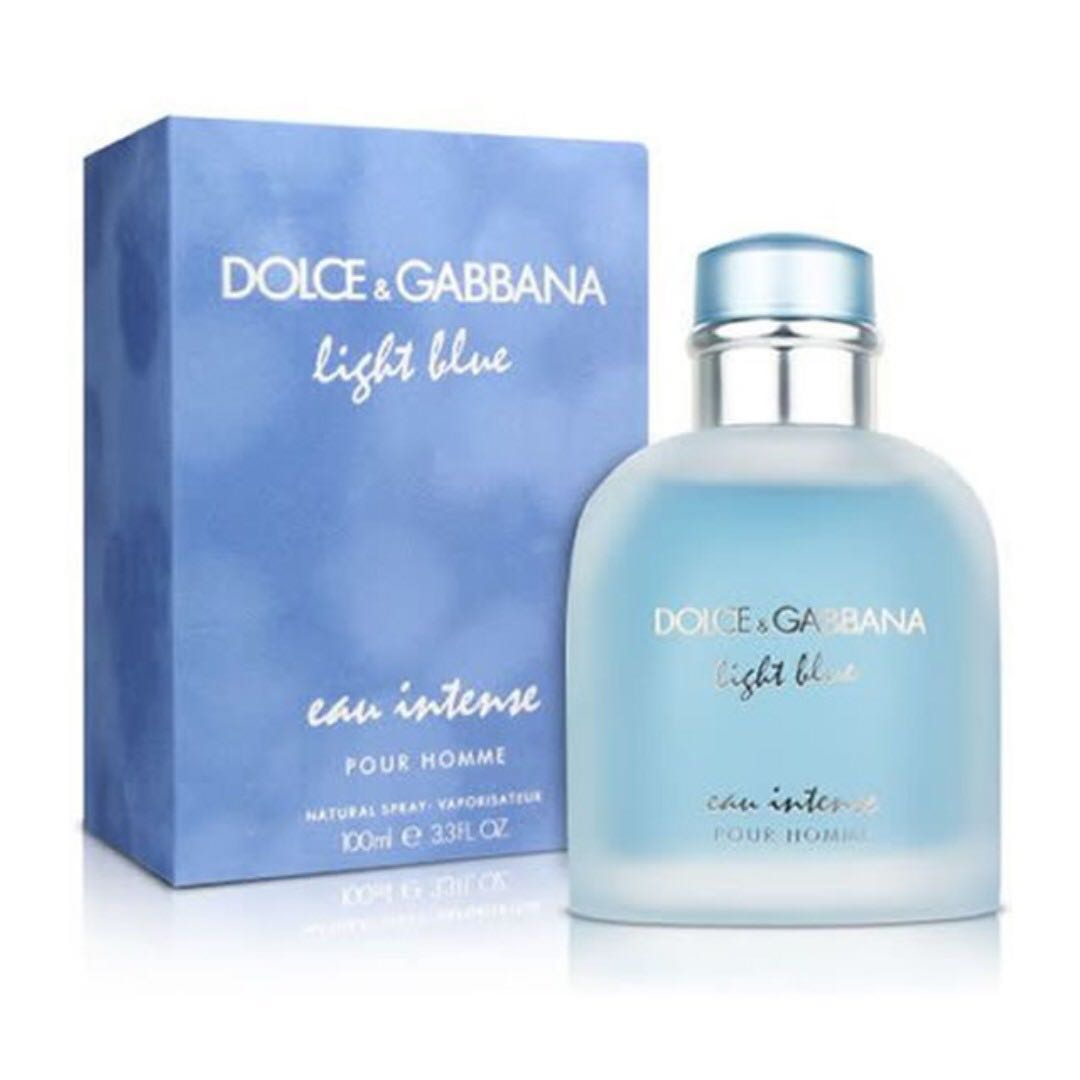 DOLCE   GABBANA D G LIGHT BLUE EAU INTENSE POUR HOMME EDP FOR MEN ... bfc7e9214ce8