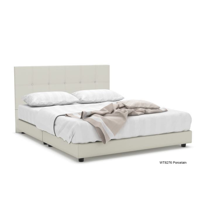 Fred Faux Leather Single Bed Frame Furniture Beds Mattresses On
