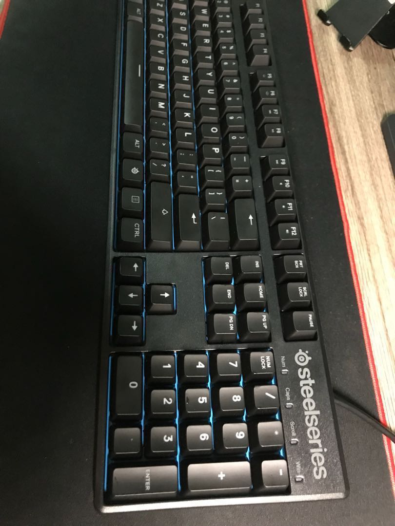 Gaming Mechanical Keyboard Steelseries Apex M500 Blue Electronics Red Switch Computer Parts Accessories On Carousell