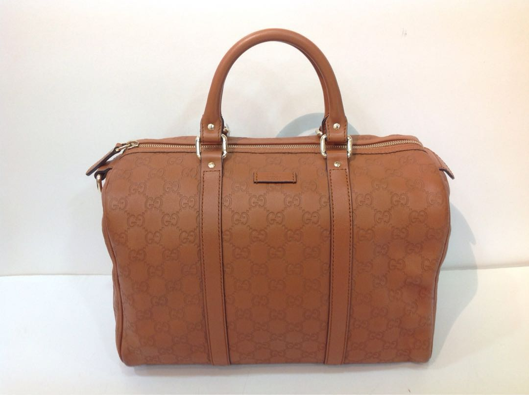 d3da8777635 GUCCI GUCCISSIMA LEATHER BOSTON BAG