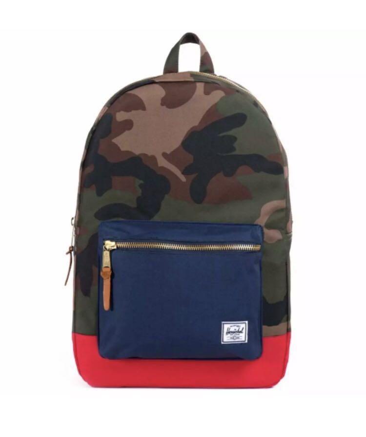 e703218b3db7 Herschel Supply Co. Settlement Backpack - Camo Navy Red