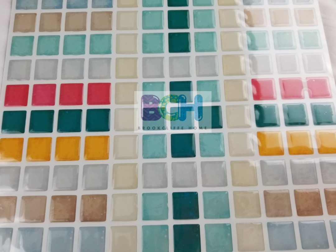 INSTOCK! Gel, 5D Tiles Wallpaper / Wall Stickers for Kitchen ...