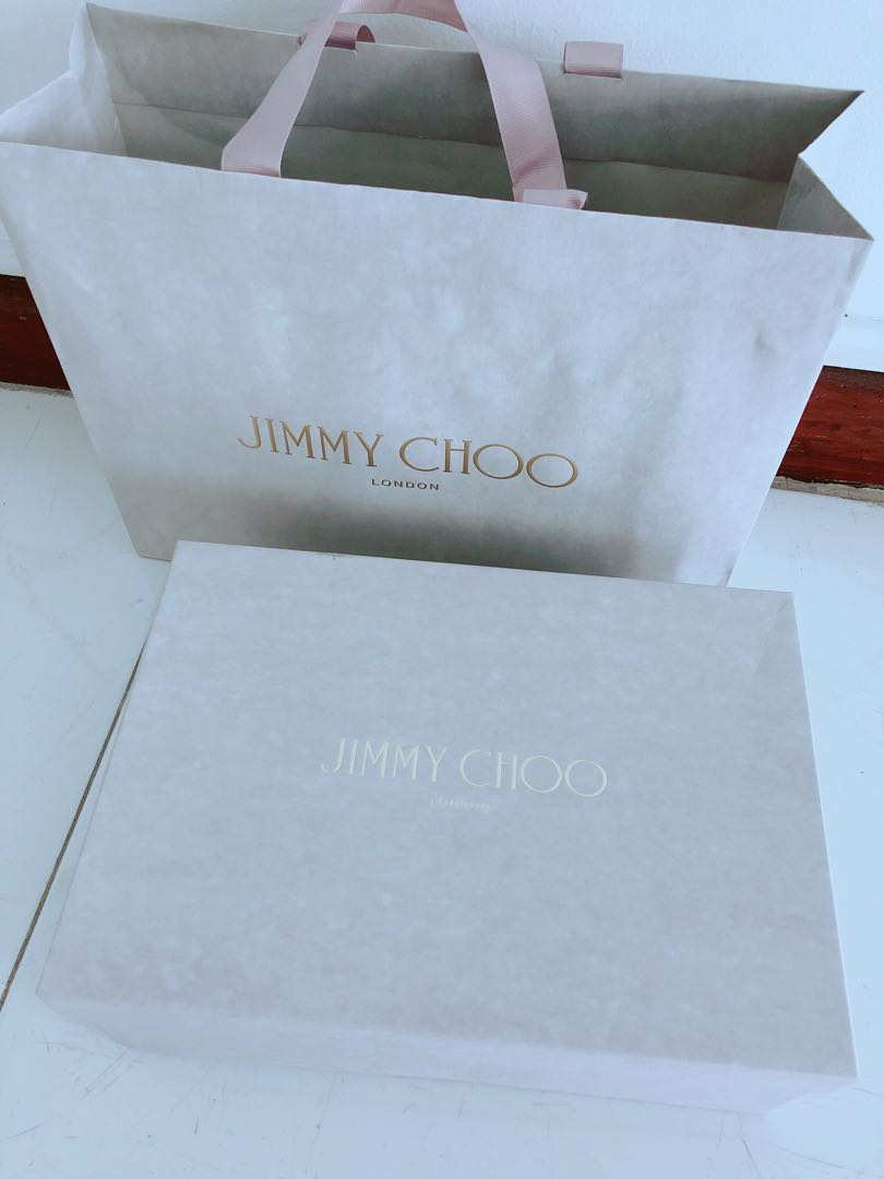 e829dbe9b1c jimmychoo shoe box with paper bag, Luxury, Accessories, Others on ...