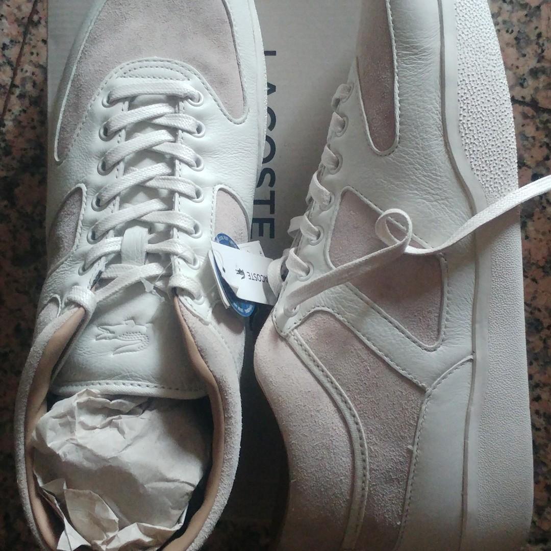 0f4bcfa7edd6 Lacoste seude leather shoes for sale