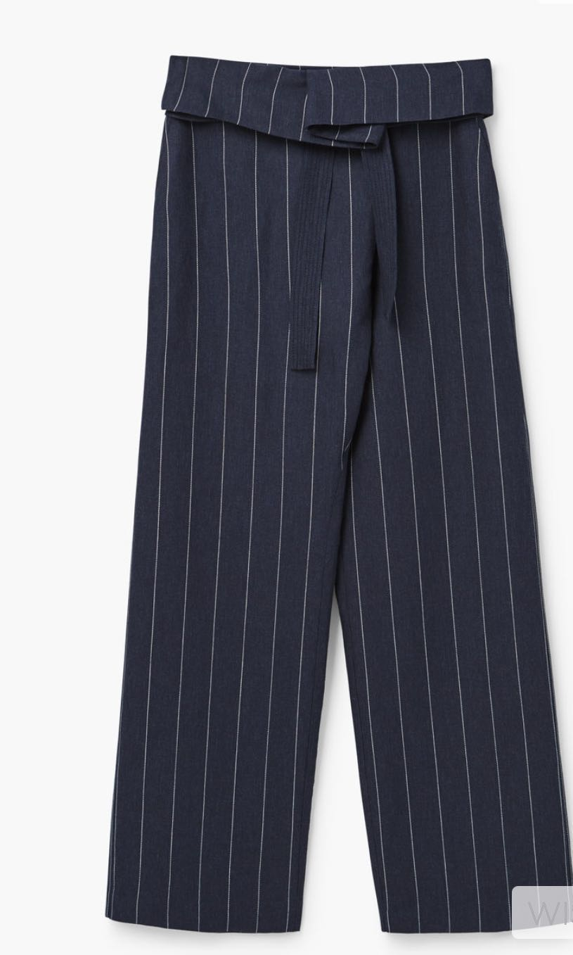 Mango Linen Striped Pants 5467990cf