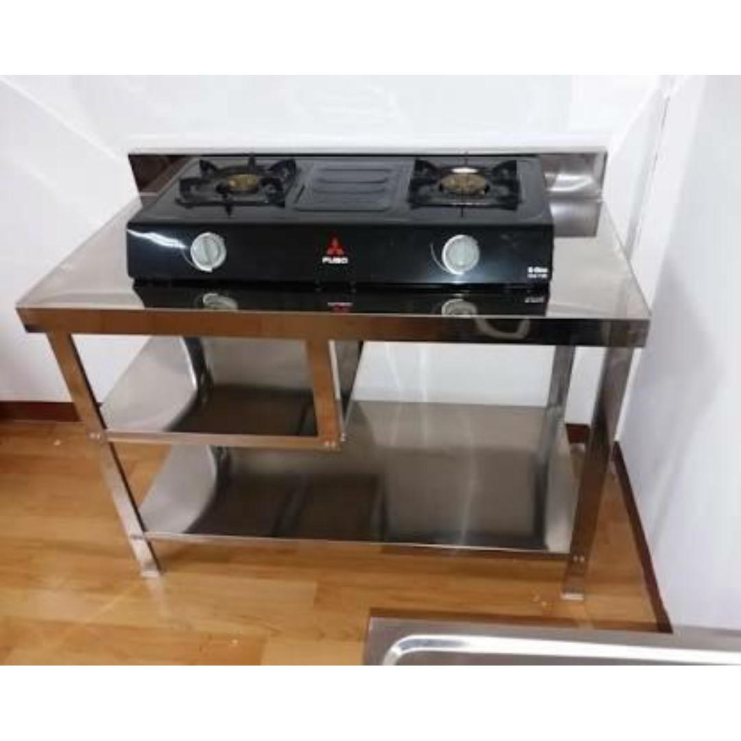 Meja Serba Guna Dapur Kompor Stainless Steel Mt 1 Rak Metalco Kitchen Liances On Carou