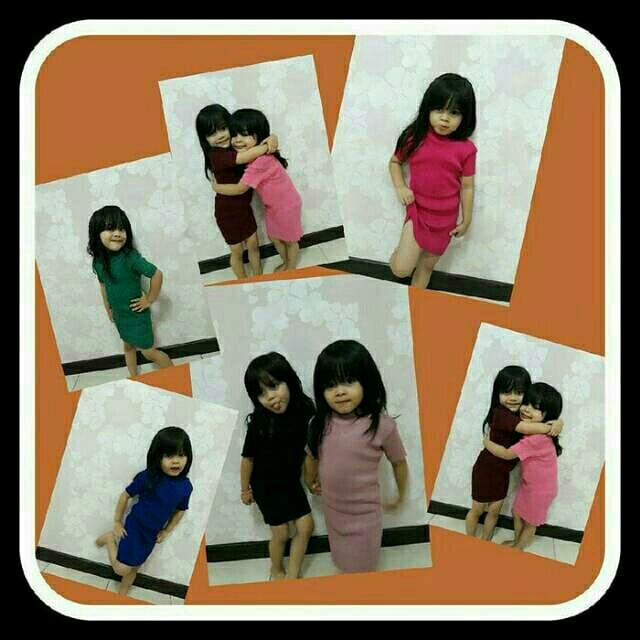 Mini dress rajut polos