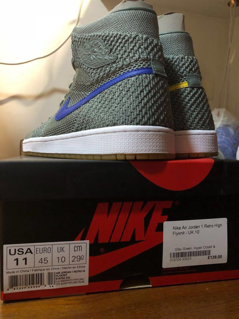 9feac98f051e Nike Air Jordan 1 Retro High Flyknit UK 10
