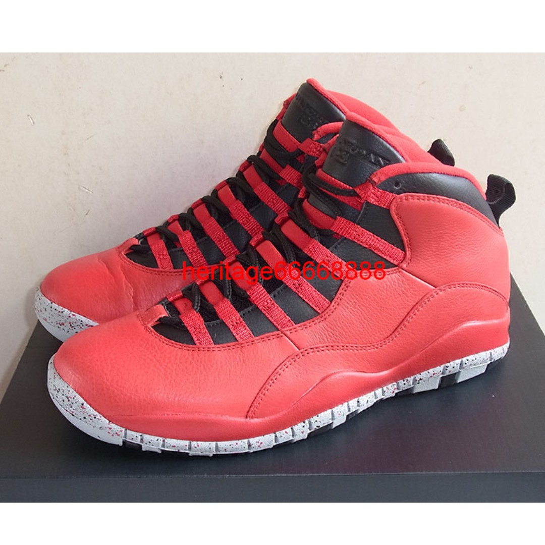 on sale a34a1 60ea5 Nike Air Jordan X 10 Bulls Over Broadway US 10 10.5 Gym Red double nickel  ovo