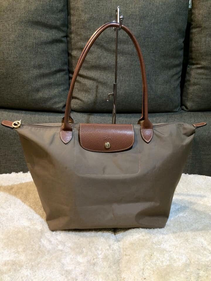 On Hand Authentic Longchamp Le Pliage Long Handle Bag Large Women S Fashion Bags Wallets Carou