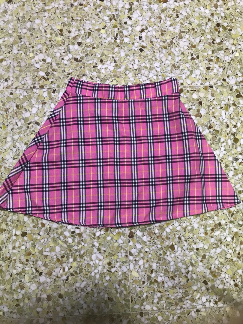 5eebaead3a4 Pink checkered schoolgirl skirt