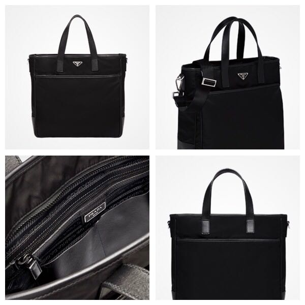 Prada Tessuto Nylon Convertible Tote Bag, Luxury, Bags   Wallets ... cd4e149cef