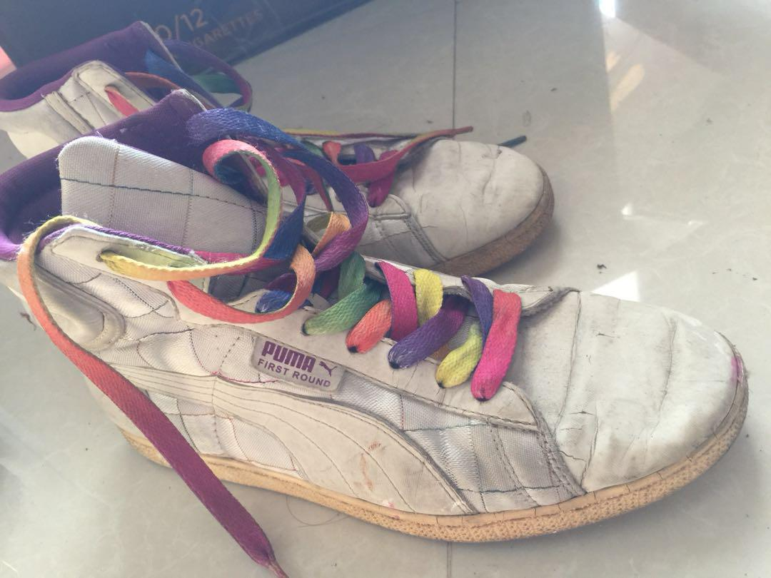 Puma first round / limited edition / 80's / sneakers/ high angkle / fashion shoes